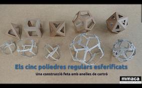Els 5 poliedres regulars esferificats